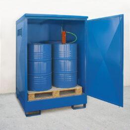 Depósitos de exterior para barriles con altura interior para trasiego