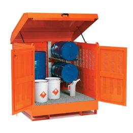 Depósito de exterior para barriles y productos inflamables