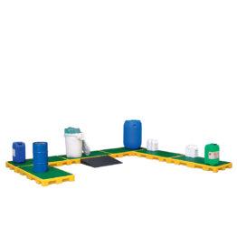 Entarimado colector de plástico para barriles, KTC's y pequeños recipientes
