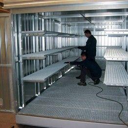 Módulos de almacenamiento exterior de gran capacidad para barriles y pequeños recipientes