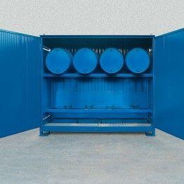 modulo para almacenamiento exterior de barriles en horizontal