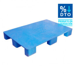 Palet de plástico liso con patas