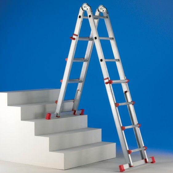 Escalera dom stica extensible estrella light - Escalera de aluminio extensible ...