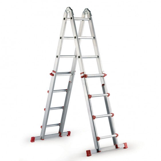Escalera dom stica extensible estrella light for Escaleras extensibles