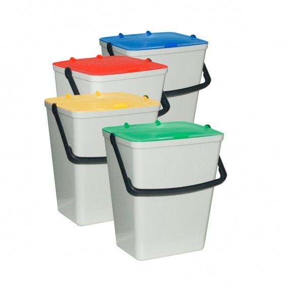 Kit de 4 cubos para reciclaje for Cubos de reciclaje
