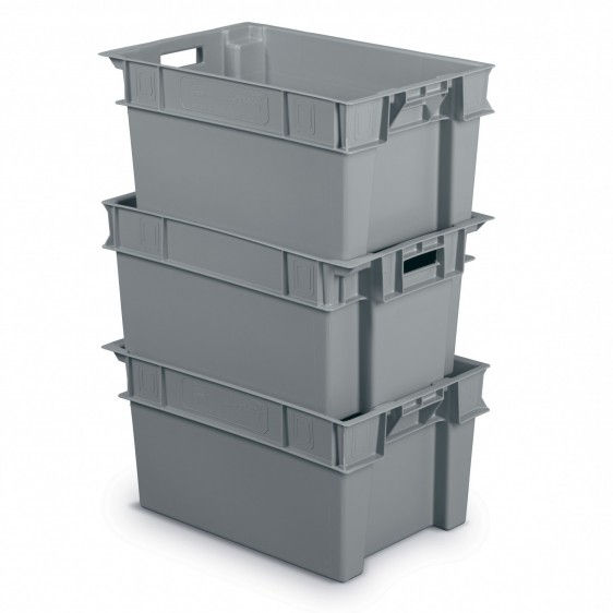 Cajas de pl stico minerva aplicables y encajables - Cajas apilables de plastico ...