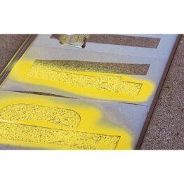 Kit de plantillas para aplicación de sprays para almacenes, fabricas, etc.
