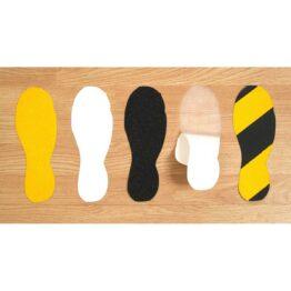 Adhesivos antideslizantes de varias formas y colores para señalizar zonas peligrosas y proporcionar adherencia. Ideales para escalones altos, escaleras, desniveles, caídas, etc. Totalmente personalizables en forma, colores y mensaje.