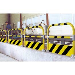 Barandillas de protección para zonas peatonales o máquinas