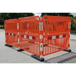 Valla de seguridad para fosos, obras y excavaciones.