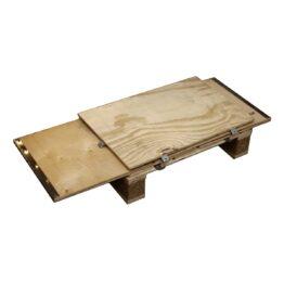 Contenedores de madera con patines de palé