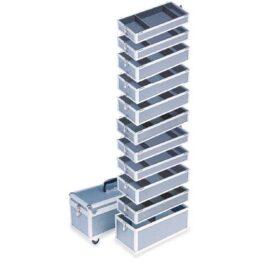Maletas de aluminio apilables