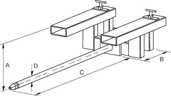 Dimensiones espolón de carga