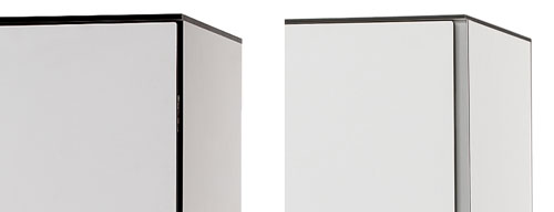 Detalle de las taquillas fenólicas con o sin marco de aluminio