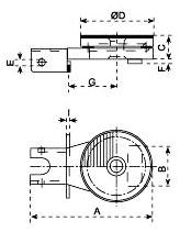 Dimensiones plato giratorio