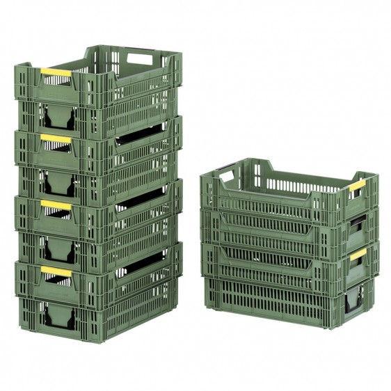 Cajas de pl stico para frutas y vegetales - Cajas apilables de plastico ...