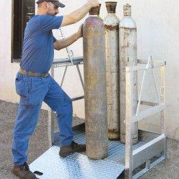 Cesta para almacenamiento y transporte de botellas de gas