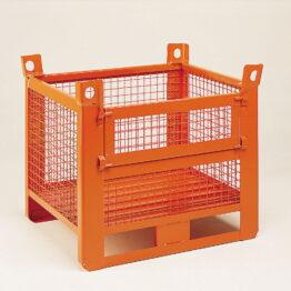 contenedor-con-paredes-de-malla-y-patines-con-puerta-frontal