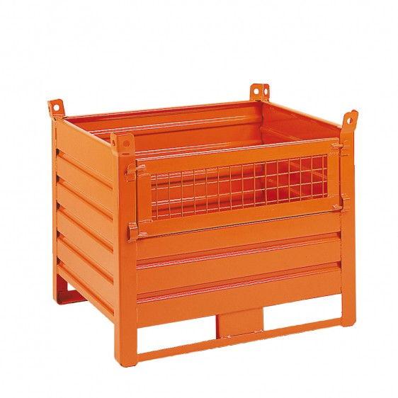 contenedor-metalico-de-chapa-y-patines-con-puerta-frontal-de-malla