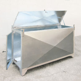 Contenedor metálico para la recogida selectiva de fluorescentes