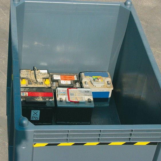 Contenedores plásticos homologados para baterías