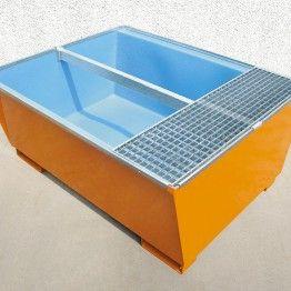 Cubetos de retención en acero para KTC/IBC con revestimiento interior en PE