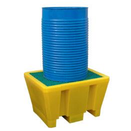 Cubetos de retención en PE-HD para barriles. Gama estándar.