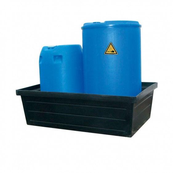 Cubetos de retención en PE-HD para barriles. Gama económica.