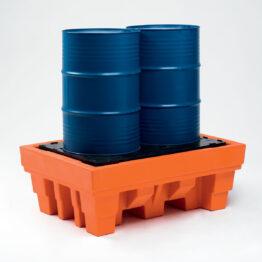 Cubetos de retención encajables en PE-HD para barriles