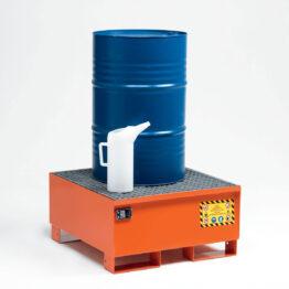 Cubetos de retención metálicos para barriles