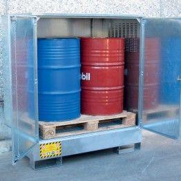 Depósito de exterior galvanizado para barriles