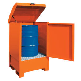 Depósito de exterior para barriles