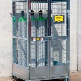 Depósitos de exterior para el almacenamiento de botellas de gas