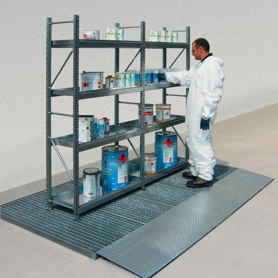 Entarimado colector metálico para barriles, KTC's y pequeños recipientes
