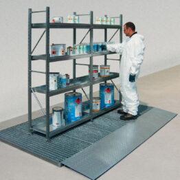 Estanterías ligeras para productos contaminantes e inflamables
