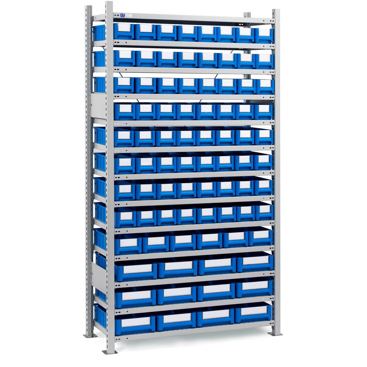 Estanter as con cajas de pl stico - Cajas para estanterias ...