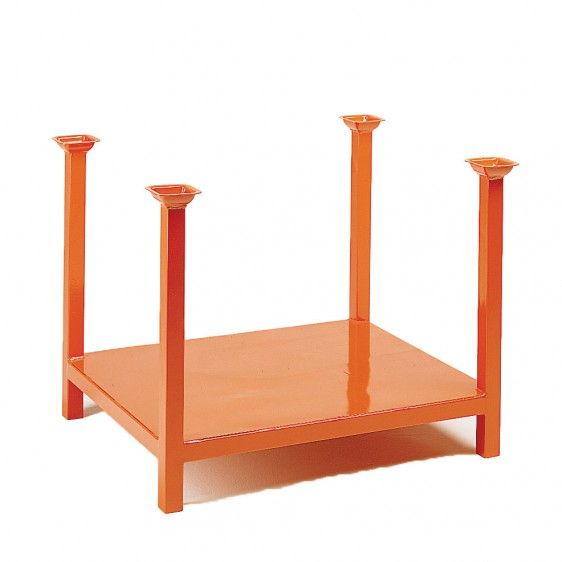 Palet metálico con patas y montantes apilables para 1000kg