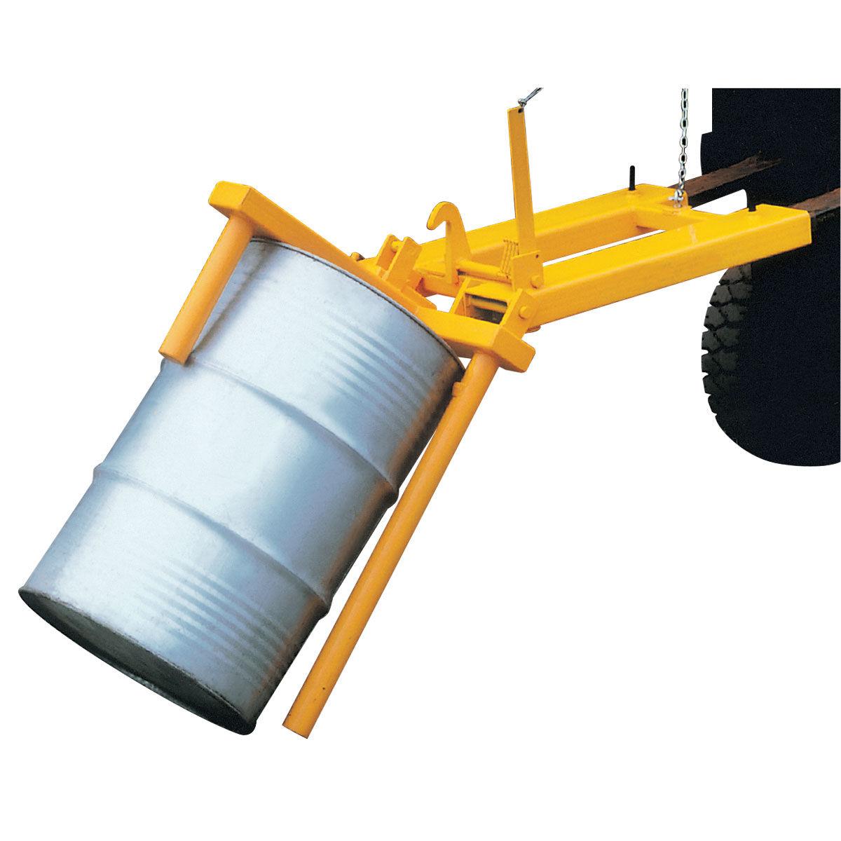 Posicionador de barriles para carretilla