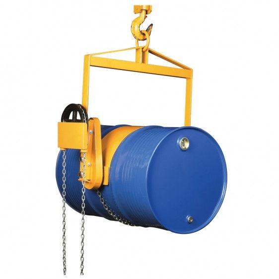 Volteador de barriles para grúa