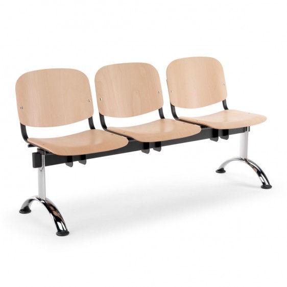 Sillas de madera para sala de espera for Sillas para oficina de madera