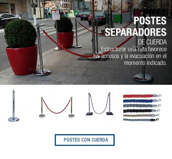 anuncio postes con cuerda