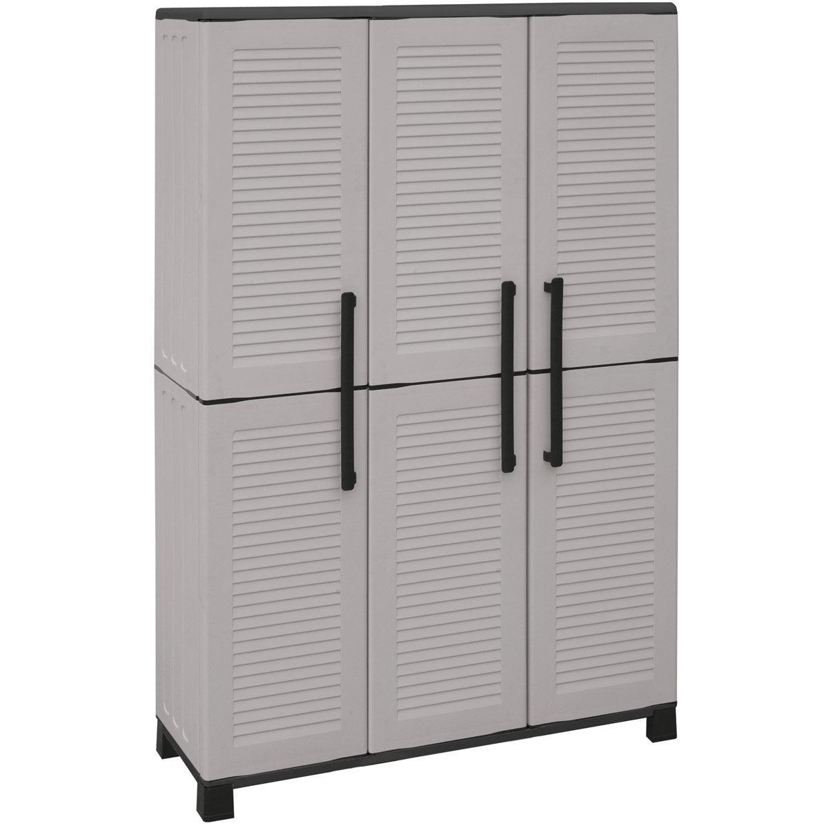 Armarios de pl stico con estantes regulables for Armarios de almacenaje para exterior