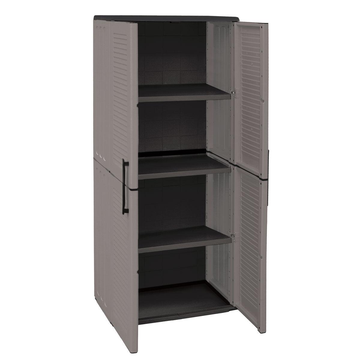 Armarios de pl stico con estantes regulables - Estantes para armarios empotrados ...