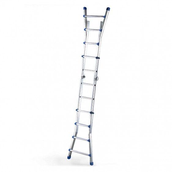 Escalera a caballete extensible estrella - Escalera de aluminio extensible ...