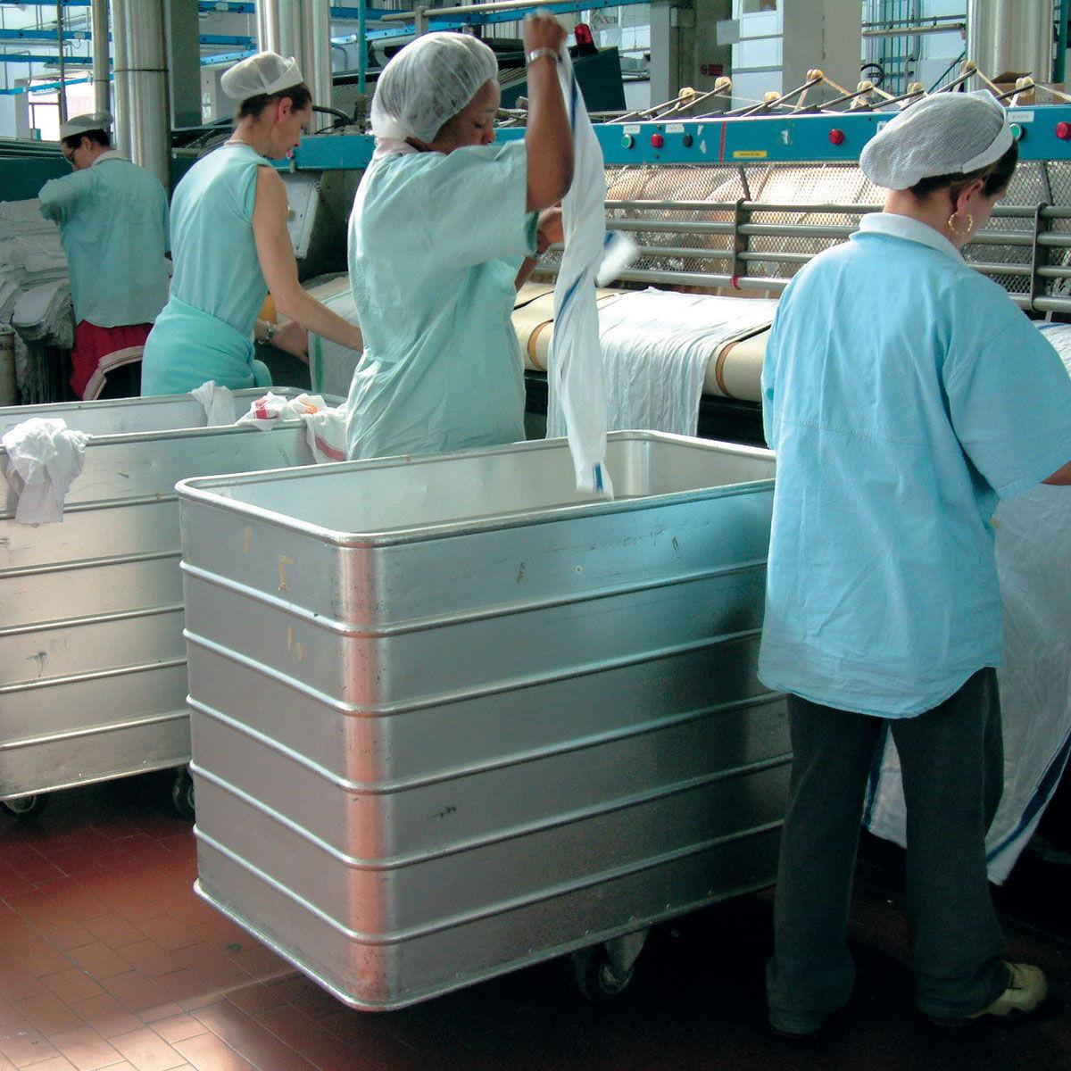 Carros de aluminio para lavandería