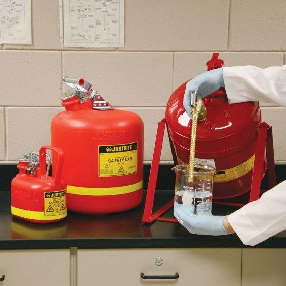 Recipientes de seguridad con grifo para líquidos inflamables