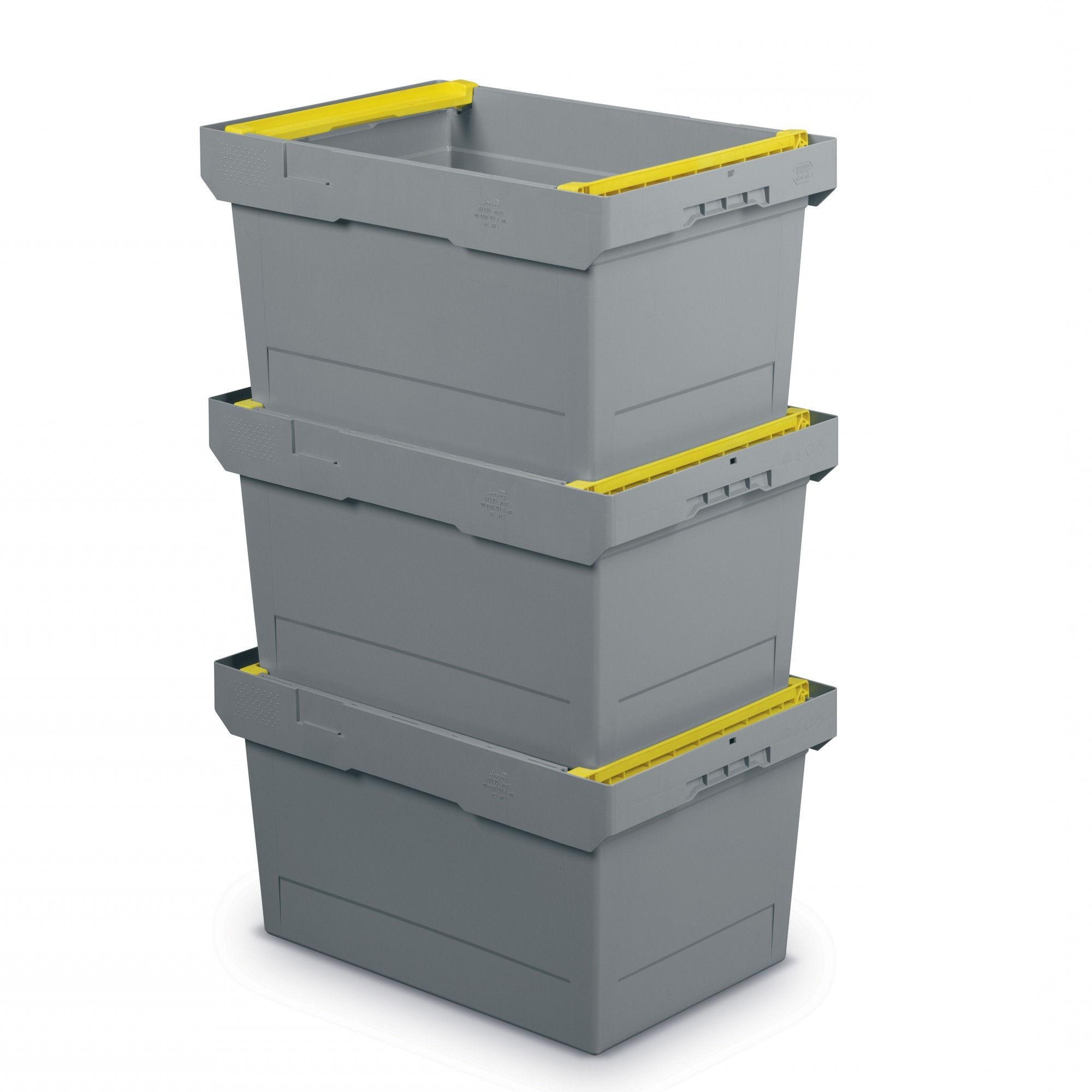 Cajas de plástico apilables Delta