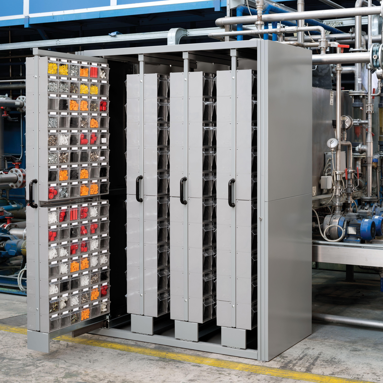 Armarios con bastidores extraíbles para contenedores basculantes