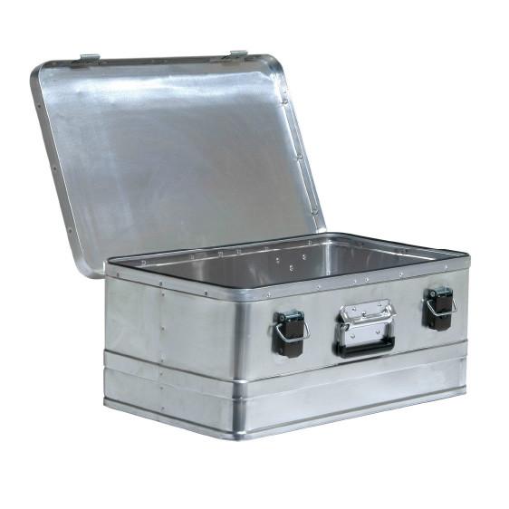Caja de aluminio con cierre y tapa