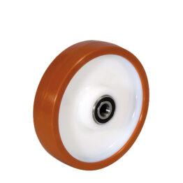 Ruedas con núcleo de nylon y cubierta de Poliuretano para cargas elevadas